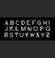 modern set modern abstract font alphabet vector image