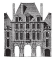 paris royal palace faade officially the grand vector image vector image