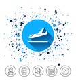 plane landing icon airplane transport symbol vector image vector image