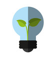 Plant inside lightbulb clean energy icon image