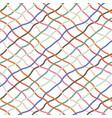 red orange blue greeen hand drawn diagonal lines vector image vector image