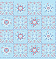 retro blue kitchen quilt patchwork tile pattern vector image vector image