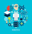 robotics flat concept vector image vector image