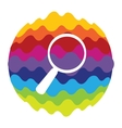 Search Rainbow Color Icon for Mobile Applications vector image vector image