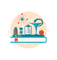 set flat icons of objects medicine laboratory vector image vector image