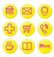 Set of icons for the card vector image vector image