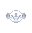 Strongman Lifting Weight Mono Line vector image vector image