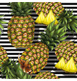 summer seamless pattern with handdrawn pineapple vector image vector image