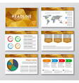 Templates polygonal slides for presentations vector image vector image