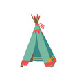 tepee tent for childrens games hut for kid vector image vector image