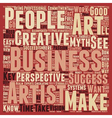 The Art Of Creative Business Success text vector image vector image