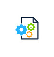 tool document logo icon design vector image