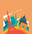 travel france world landmark landscape vector image vector image