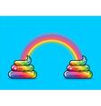 Turd unicorn and rainbow Appearance of rainbow vector image vector image