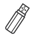 usb flash drive line icon device and hardware vector image