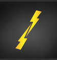 versus symbol glowing lightning two opposite vector image