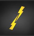 versus symbol glowing lightning two opposite vector image