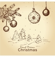 vintage christmas set vector image