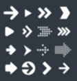 vrctor arrow icon set vector image