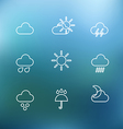 White forecast icons clip-art on color background vector image vector image