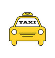 yellow taxi car logotype for website stickers vector image