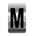 Alphabet silver flipboard letters m vector image