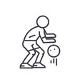 basketball player line icon sign vector image