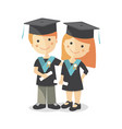 a boy and a girl at the graduation vector image