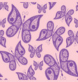 seamless abstract pattern background with flying vector image