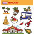 thailand tourism travel landmarks and thai culture vector image