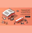 3d isometric site template - transport vector image vector image