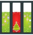 a set christmas congratulation stickers vector image vector image