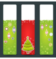 A set of Christmas congratulation stickers vector image vector image