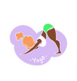 african american yoga woman black lady with red vector image