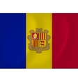 Andorra waving flag vector image vector image