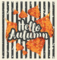 autumn banner with bright autumn poplar leaves vector image vector image