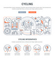 banner cycling vector image