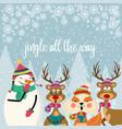 Beautiful flat design christmas card with