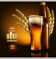 beer advertising design highly realistic with vector image vector image