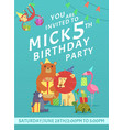 birthday card invitation greeting bainvite vector image vector image