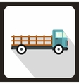 Cargo truck icon flat style vector image