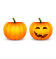 cartoon halloween pumpkin lantern funny vector image