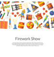 cartoon pyrotechnics background vector image vector image