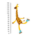 cheerful funny giraffe on riller with long neck vector image vector image