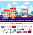 City Icons Set vector image
