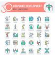 corporate development icons vector image