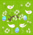 cute birds baby shower invitation card design vector image vector image