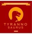 dinosaur t-rex silhouette against sun vector image
