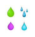 drop icon set cartoon style vector image