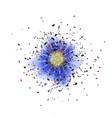 explosion cloud of blue pieces sharp particles vector image